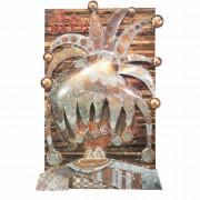 0) La Matta - Tavola a più spessori, tempere, cere, oro- h 96x62x8 cm- 1986/87