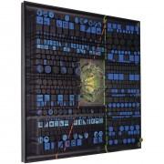 Pagine su Archimede Seguso n.6 - Legno a più spessori, tempera, inserimento in vetro di Archimede Seguso -  100x100 cm - 1993