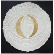 Resinografia n.1 - Il Sole Bianco - Oro su carta fatta a mano - h 100x100 cm - 2010
