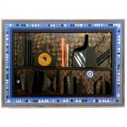 Omaggio a Morandi n.1- Legno a più spessori, oro, colore a cera, tempera h 50x70 cm- 1991