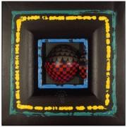 Omaggio a Morandi n.42- Legno a più spessori, tempere- h 28,5x28,5 cm- 1992