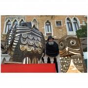Gufi Giano - Biennale d'Arte 2013 - Bronzo, fusione a cera persa - h 37, 77, 135 cm