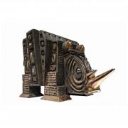The Rhino - Bronze, lost wax casting - h 17x18,5x26 in - 2008