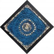 Resinografia n.9b Il Sole Bleu - Colori ecoline e oro su carta fatta a mano - 70x70 cm - 2011