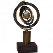 Astrolabe - Bronze, lost wax casting - h 91 in - 1997