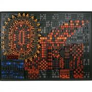 Elaboratore Leone Alato n.04 - Legno a più spessori, tempera e colori a cera - 150x200 cm - 1991 - Aliscafo Pacinotti Adriatica Navigazione