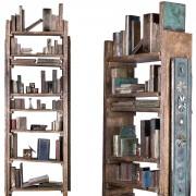 Libreria dell'artista - Bronzo, fusione a cera persa - 100x80x230 cm - 2009
