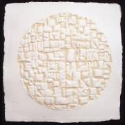 Resinografia n.8e - Il Sole Quadrato - Carta fatta a mano - h 50x50 cm - 1997