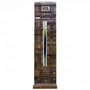Riflesso - Bronzo, fusione a cera persa con inserimento in vetro - 50x10x100 cm - 2001