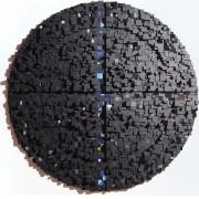 Elaboratore Rosone n.02 - Legno a più spessori, tempere. gessi, acrilici - ⌀ 140 cm - 1990 Collezione privata, Padova