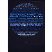 The Blue Sun - Silk-screen printing - h  27,6x19,7 in - 1991