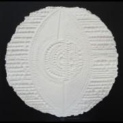 Resinografia n.4 Il Sole Bianco - Carta fatta a mano - 100x100 cm - 2011