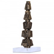 Tower of Owls (1) - Bronze, lost wax casting - h 17 in - 2017
