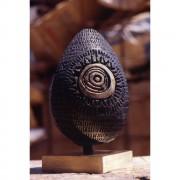Uovo (3) - Bronzo, fusione a cera persa - h 33 x ø 20 cm - 1997