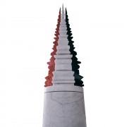 """""""Ascensione"""" - Marmo rosso di Verona, bianco di Carrara e nero Marquinia - h 195 cm - 2004"""