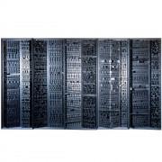 Elaboratore n.66 - Legno a più spessori, tempere. gessi, acrilici- h 220x700 cm - 1993 Collezione Monte dei Paschi di Siena, Padova