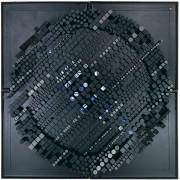 Elaboratore n.34 - Legno a più spessori, colori a cera, tempera - 200x200 cm - 1991