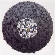 Elaboratore Rosone n.4 - Tempere e cere su legno a più spessori - ø 95 cm - 1990