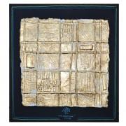 Resinografia n.13b - La Graticola - Foglia d'oro su carta fatta a mano - h 54x50 cm - 2015