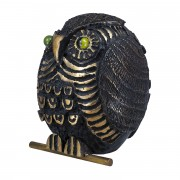 Owl (20) - Bronze, lost wax casting - h 7,8 in - 2013
