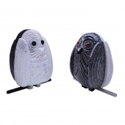 Owl n.17- White Lasa marble and black Cuba marble - h 8 in - 2015