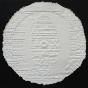 Resinografia n.2 - Il Sole Bianco - Carta fatta a mano - h 100x100 cm - 1997
