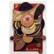 7) Il Carro- Tavola a più spessori, tempere, cere, oro- h 99x68x8 cm- 1987