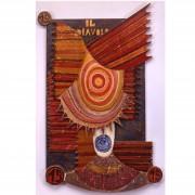 15) Il Diavolo- Tavola a più spessori, tempere, cere, oro- h 102x63x6 cm- 1987