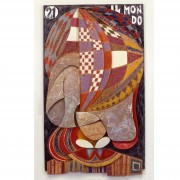 21) Il Mondo- Tavola a più spessori, tempere, cere, oro- h 93x55x6 cm- 1987