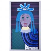La Vergine- Serigrafia- h 70x50 cm- 1979