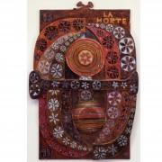 13) La Morte- Tavola a più spessori, tempere, cere, oro- h 92x65x6 cm- 1987