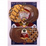 2) La Papessa- Tavola a più spessori, tempere, cere, oro- h 91x64x5 cm- 1987