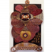 14) La Temperanza- Tavola a più spessori, tempere, cere, oro- h 101x65x10 cm- 1987