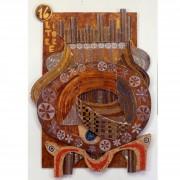 16) La Torre- Tavola a più spessori, tempere, cere, oro- h 100x71x4 cm- 1987