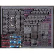 Elaboratore Leone Alato n.02 - Tempere, cere, acrilici su legno a più spessori - h 150x200 cm - 1994