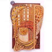 9) L'eremita- Tavola a più spessori, tempere, cere, oro- h 100x65x10 cm- 1987