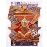 4) L'imperatore- Tavola a più spessori, tempere, cere, oro- h 92x68x7 cm- 1987
