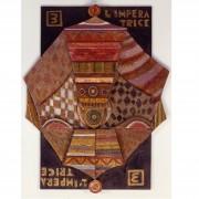3)L'imperatrice- Tavola a più spessori, tempere, cere, oro- h 92x72x7 cm- 1987
