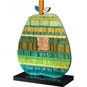 Mezza Mela - Mosaico di smalto vetroso e tempera e oro su legno - 42,5x55 cm - 1999