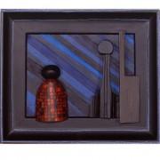 Omaggio a Morandi n.18- Legno a più spessori, tempere, acrilici, colori a cera- 31x37 cm- 1991