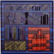 Omaggio a Morandi n.26- Legno a più spessori, tempere, acrilici, colori a cera- 80x80 cm- 1991