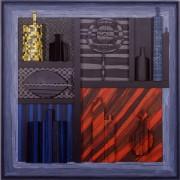 Omaggio a Morandi n.27- Legno a più spessori, tempere, acrilici, colori a cera- 100x100 cm- 1991