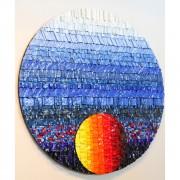 Sole Rosone n.28 - Mosaico di smalto vetroso - ⌀ 100 cm - 2015 - Collezione privata