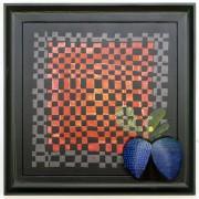 Omaggio a Morandi n.29- Legno a più spessori, tempere, acrilici, colori a cera- 60x60 cm- 1991