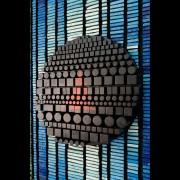 La Nascita del Sole n.13 - Dettaglio - Mosaico di smalto vetroso e legno a più spessori - 125x125 cm - 1995
