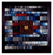 La nascita del sole n.7- Mosaico di smalto vetroso- h 119x119 cm- 1994