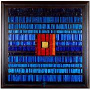La nascita del sole n.23- Mosaico di smalto vetroso- h 79x79 cm- 1995
