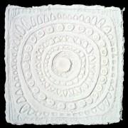 Resinografia n.9 - Sole quadrato - Carta fatta a mano - h 50x50 cm - 2011