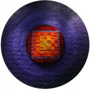 Sole Rosone n.16 - Legno a più spessori, acrilici, inserimento in mosaico di smalto vetroso - ⌀ 170 cm - 1991
