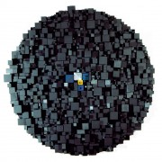 Elaboratore Rosone n.01 - Legno a più spessori, tempere. gessi, acrilici - ⌀ 95 cm - 1990